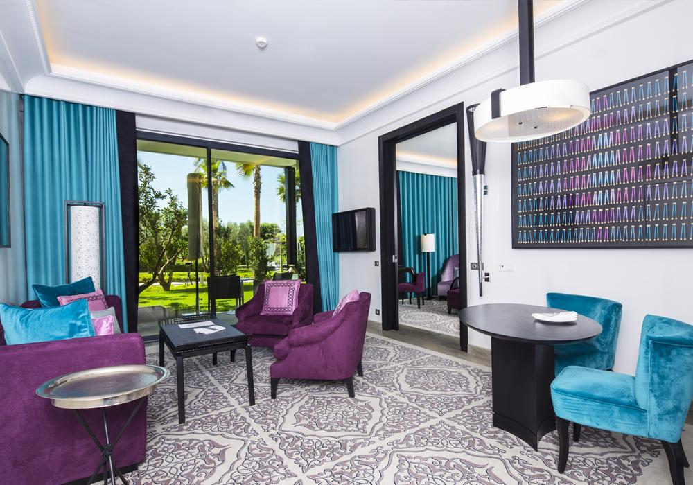 Story Rabat - Suite Diyafa seating area with terrace