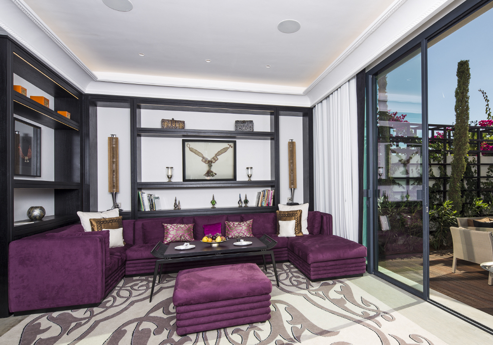 Story Rabat - Emiri Villa living room view with access to the private garden