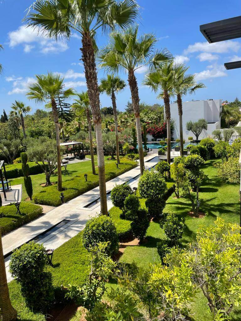 Garden Views from a Zyriab Suite